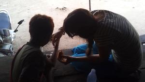 Kara and Shi Ko at the ETB community center